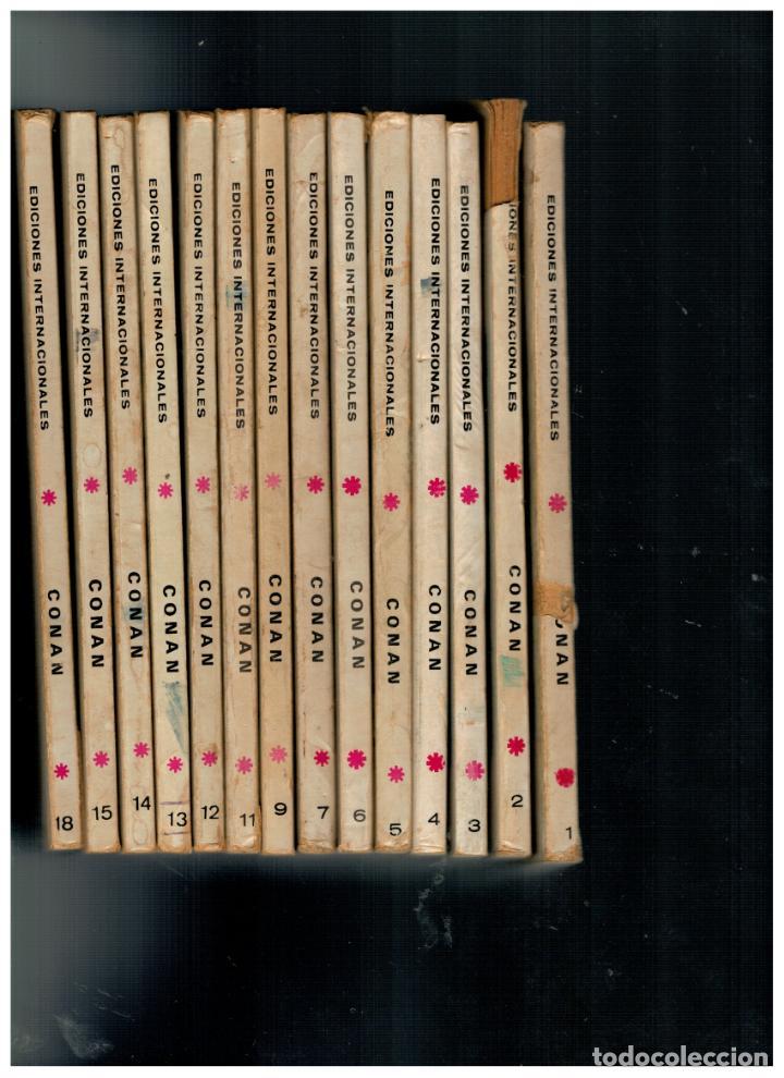 CONAN. LOTE DE 14 NÚMEROS 1,2,3,4,5,6,7,9,11,12,13,14,15 Y 18. VÉRTICE 1972. TACO. LEER (Tebeos y Comics - Comics Colecciones y Lotes Avanzados)