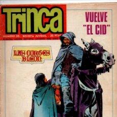 Cómics: TRINCA NUMERO 35. VUELVE EL CID, MATHAI-DOR, KRONAN, CAIUS HOW. DONCEL 1972.. Lote 288202298