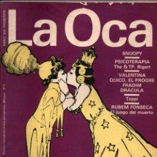 Cómics: LA OCA Nº 3. SNOOPY, QUICO EL PROGRE, PSICOTERAPIA, DRACULA..BARCELONA, MAYO 1985. Lote 288548548