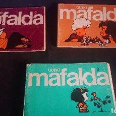 Cómics: LOTE DE 6 TEBEOS DE MAFALDA Nº 0-1-2-6-9-10 , EDITORIAL LUMEN , LEER DESCRIPCION. Lote 288569988