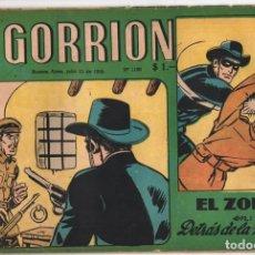 Cómics: 1955 EL GORRION # 1180 RED RYDER EL ZORRO BEN BOLT PRINCIPE VALIENTE EL CAPITAN Y SUS SOBRINOS. Lote 288582038