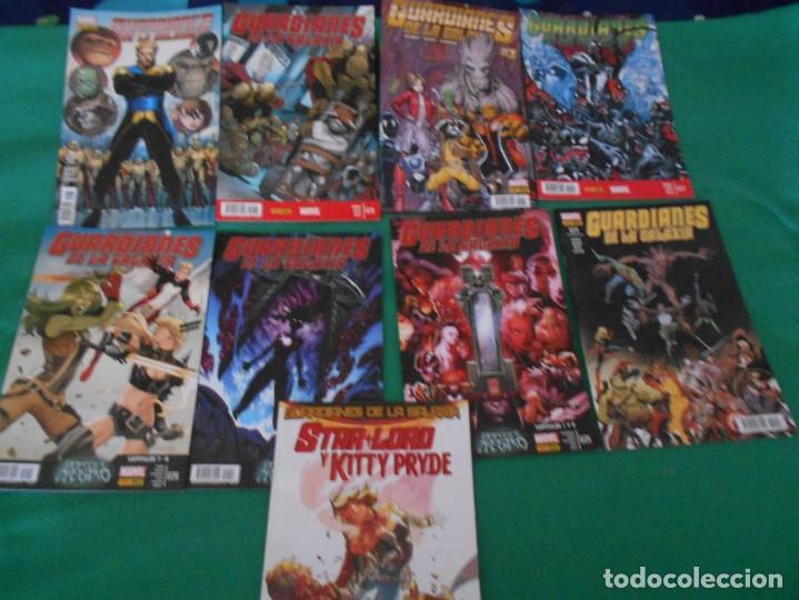 LOTE DE 9 COMIC GUARDIANES DE LA GALAXIA -MARVEL - PANINI COMIC Nº 21,24,25,26,27,28,30,37,38 (Tebeos y Comics - Comics Colecciones y Lotes Avanzados)