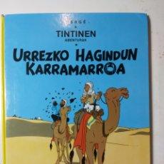Cómics: TINTIN, ELKAR, URREZKO HAGINDUN KARRAMARROA. Lote 289895953