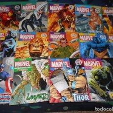 Cómics: LOTE DE 31 FASCICULOS FIGURAS MARVEL DE COLECCION Y SUPERHEROES DC COMICS SOLO FASCICULOS SIN MUÑ. Lote 289896058