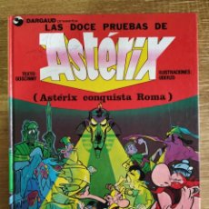 Cómics: LIBRO - LAS DOCE PRUEBAS DE ASTÉRIX . ASTÉRIX CONQUISTA ROMA (1987) R. GOSCINNY Y A. UDERZO. Lote 289897373