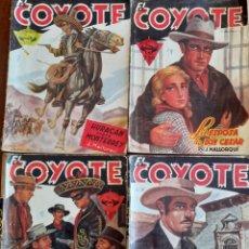 Cómics: 4 EJEMPLARES COLECCIÓN EL COYOTE DE J.MALLORQUI 1945 EDICIONES CLIPER. Lote 293452088