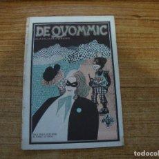 Cómics: COMIC DE QUOMMIC EL ROLLO ARISTOCRATA UNDERGROUND CONTRAPORTADA MARISCAL. Lote 293551788