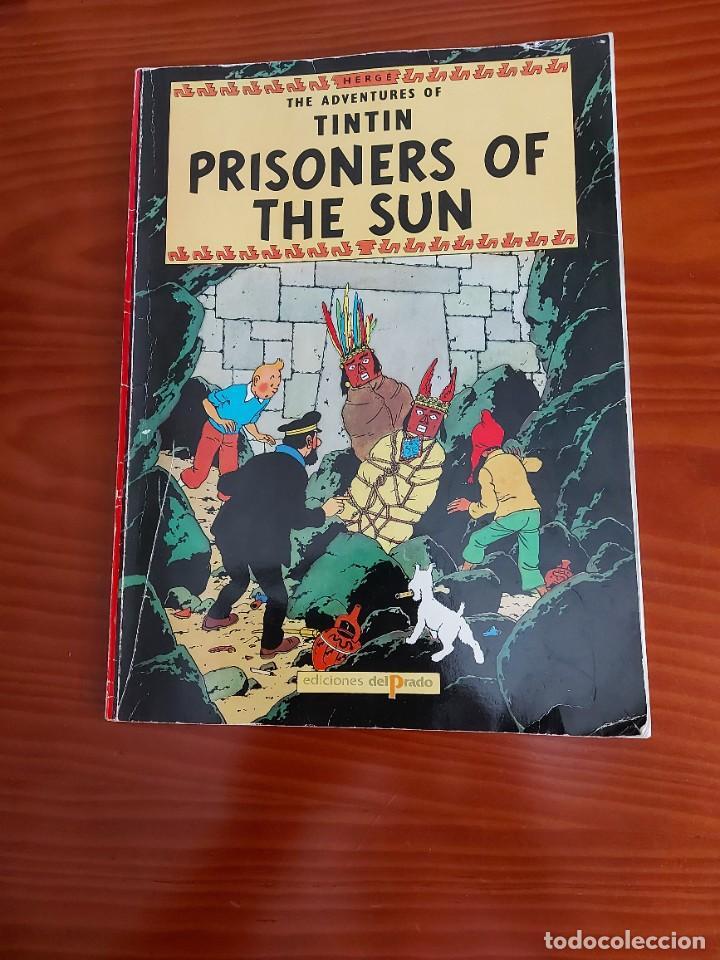 COMIC DE LAS AVENTURAS DE TINTIN PRISONERS OF THE SUN EN INGLES Nº 2 AÑO 198? ED. DEL PRADO (Tebeos y Comics Pendientes de Clasificar)