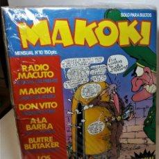 Cómics: LOTE DE COMICS MAKOKI. NÚMEROS 1 AL 10. Lote 293737578
