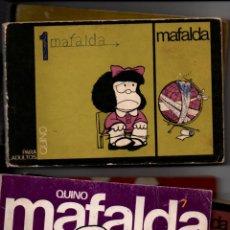 Cómics: MAFALDA TIRAS DE QUINO, EDITADAS POR LUMEN. LOTE DE 7 EJEMPLARES. NUMEROS 1,3,5,6,7,8 Y 10.. Lote 295344213