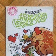 Cómics: HISTORIAS VERDES BY VÁZQUEZ D2. Lote 295419053