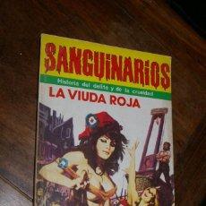 Cómics: LA VIUDA ROJA SANGUINARIOS HISTORIA DEL DELITO Y DE LA CRUELDAD Nº 1 ED. MARC-BEN 1976. Lote 296773653