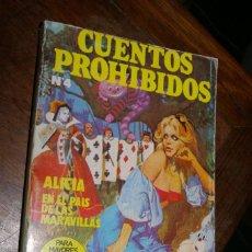 Cómics: ALICIA EN EL PAIS DE LAS MARAVILLAS CUENTOS PROHIBIDOS Nº 4 EDICIONES ACTUALES 1977. Lote 296775313