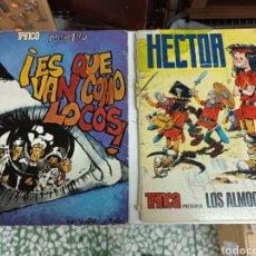 Cómics: 2 COMICS TRINCA HECTOR Y LOS ALMOGAVARES Y ES QUE VAN COMO LOCOS ENVÍO INCLUIDO. Lote 297017243
