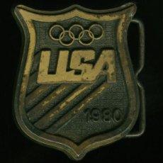 Coleccionismo deportivo: HEBILLA USA 1980. Lote 26970920