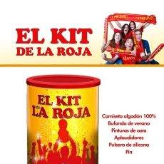 Coleccionismo deportivo: EL MEJOR KIT DE LA ROJA - CAMISETA - BUFANDA - PINTURAS - PULSERAS - NUEVO A ESTRENAR. Lote 144207382