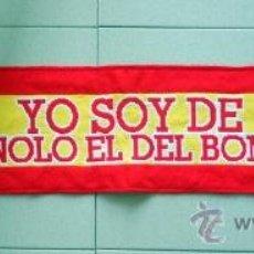 Coleccionismo deportivo: BUFANDA SCARF SCIARPE FUTBOL FOOTBALL ESPAÑA MANOLO EL DEL BOMBO BURGER KING. . Lote 33127323