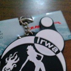 Coleccionismo deportivo: MOTO GP LLAVERO OFICIAL IRWA (INTERNATIONAL RACING WOMEN ASOCIATION). MUY DIFICIL, NUEVO A ESTERNAR.. Lote 34037065