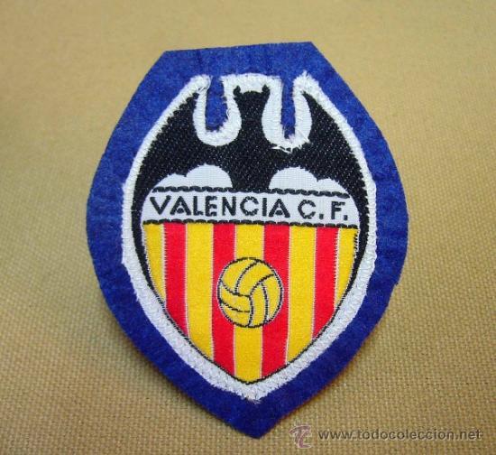ESCUDO, ESCUDO DE TELA, VALENCIA C. F., FUTBOL, 8 X 6 CM (Coleccionismo Deportivo - Ropa y Complementos - Complementos deportes)