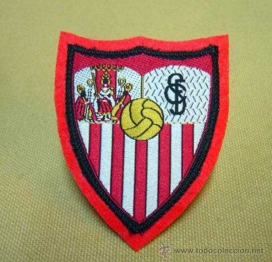 ESCUDO, ESCUDO DE TELA, PARCHE, C.F. SEVILLA, FUTBOL, 8 X 6 CM (Coleccionismo Deportivo - Ropa y Complementos - Complementos deportes)