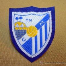 Coleccionismo deportivo: ESCUDO, ESCUDO DE TELA, PARCHE, C. MALAGA, TM, FUTBOL, 8 X 6 CM, RARO. Lote 35119813