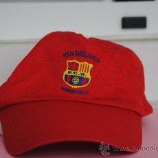 Coleccionismo deportivo: GORRA DEPORTIVA ROJA PEÑA BARCELONISTA BENICARLO. Lote 37477142