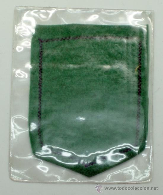 Coleccionismo deportivo: Escudo fútbol España tela bordada años 60 7,5 cm x 6 cm - Foto 2 - 149829113