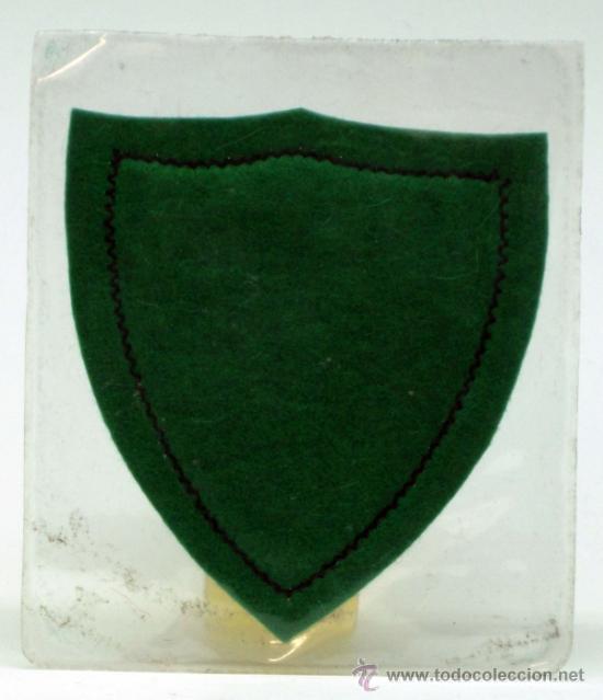Coleccionismo deportivo: Escudo fútbol Sevilla Fútbol Club tela bordada borde verde años 60 6 cm x 6 cm - Foto 2 - 36538897