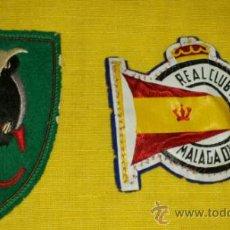 Coleccionismo deportivo: UNO BORDADO PUEDE SER DE HOCKEY, REAL CLUB MEDITERRANEO MALAGA, TELA PINTADA Y FIELTRO. Lote 36687272