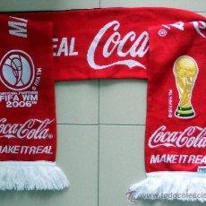 Coleccionismo deportivo: BUFANDA SCARF SCIARPE MUNDIAL FUTBOL ALEMANIA 2006 COCA-COLA WORLD CUP FOOTBALL. Lote 38425217