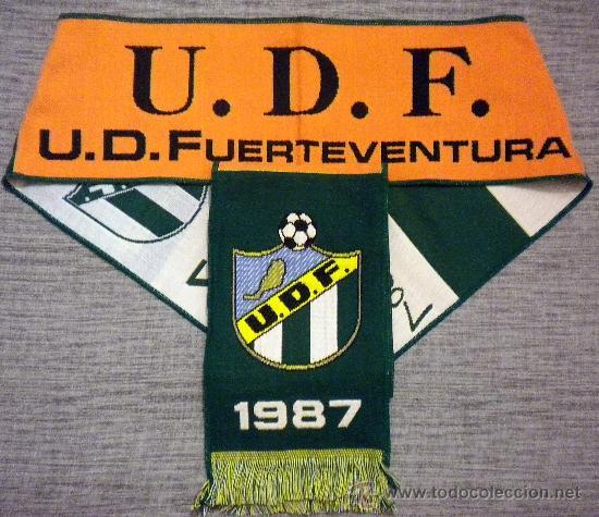 BUFANDA SCARF SCIARPE FUTBOL U.D. FUERTEVENTURA CLUB FOOTBALL (Coleccionismo Deportivo - Ropa y Complementos - Complementos deportes)