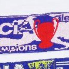 Coleccionismo deportivo: UNICA! BUFANDA VALENCIA LAZIO CHAMPIONS LEAGUE SCARF MATCH . Lote 40173873