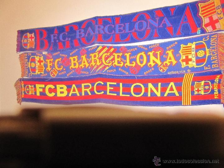 3 BUFANDAS - F.C. BARCELONA - USADAS (Coleccionismo Deportivo - Ropa y Complementos - Complementos deportes)