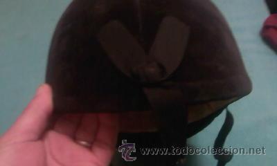 Coleccionismo deportivo: casco de hípica marca new triple crown.Diseño de HARRY HALL.Terciopelo negro. - Foto 5 - 42461869