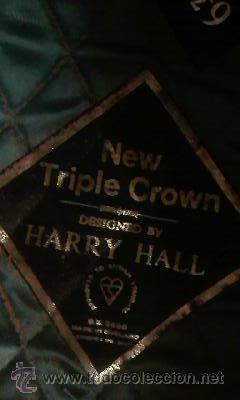 Coleccionismo deportivo: casco de hípica marca new triple crown.Diseño de HARRY HALL.Terciopelo negro. - Foto 7 - 42461869
