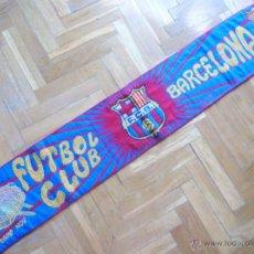 Coleccionismo deportivo: BUFANDA SCARV FC BARCELONA OFICIAL ANTIGUA : ESCUDO + NOMBRE + CAMP NOU + L'AVUI. Lote 42774323