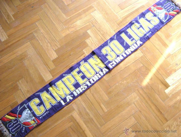BUFANDA SCARV REAL MADRID CAMPEON 30 LIGAS : LA HISTORIA CONTINUA. NUEVA !!! (Coleccionismo Deportivo - Ropa y Complementos - Complementos deportes)