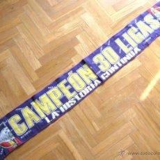 Coleccionismo deportivo: BUFANDA SCARV REAL MADRID CAMPEON 30 LIGAS : LA HISTORIA CONTINUA. NUEVA !!!. Lote 42774573
