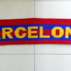 Coleccionismo deportivo: BUFANDA SCARF SCIARPA FUTBOL FC BARCELONA ANTIGUA VINTAGE 90`S SPANISH FOOTBALL. Lote 44210618