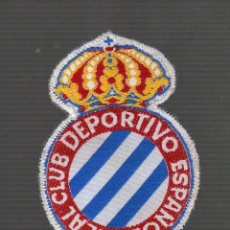 Coleccionismo deportivo - PARCHE DE TELA DEL ANTIGUO ESCUDO DEL REAL CLUB DEPORTIVO ESPAÑOL - 45598927