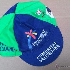 Coleccionismo deportivo: GORRA EQUIPO CICLISTA COMUNITAT VALENCIANA NALINI CICLISMO. Lote 45928264