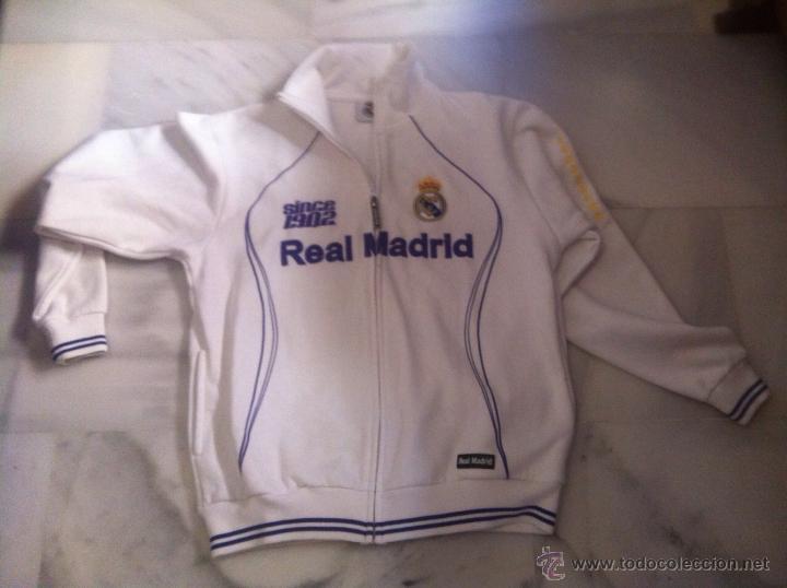 SUDADERA ORIGINAL REAL MADRID TALLA M (Coleccionismo Deportivo - Ropa y Complementos - Complementos deportes)