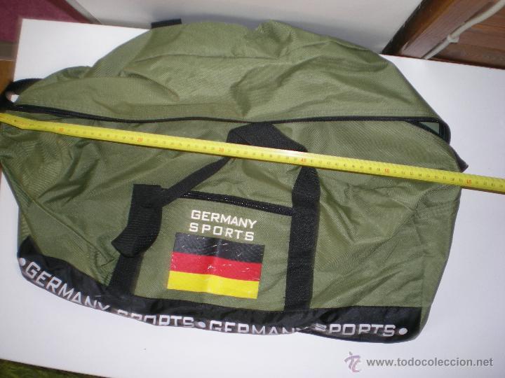 Coleccionismo deportivo: bonita bolsa grande de deporte alemana verde militar como nueva - Foto 4 - 46419967
