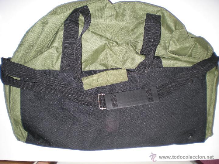 Coleccionismo deportivo: bonita bolsa grande de deporte alemana verde militar como nueva - Foto 5 - 46419967