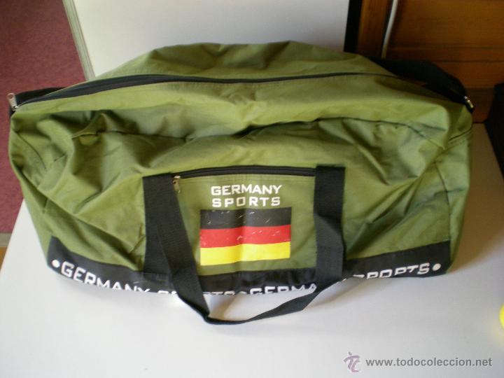 Coleccionismo deportivo: bonita bolsa grande de deporte alemana verde militar como nueva - Foto 6 - 46419967