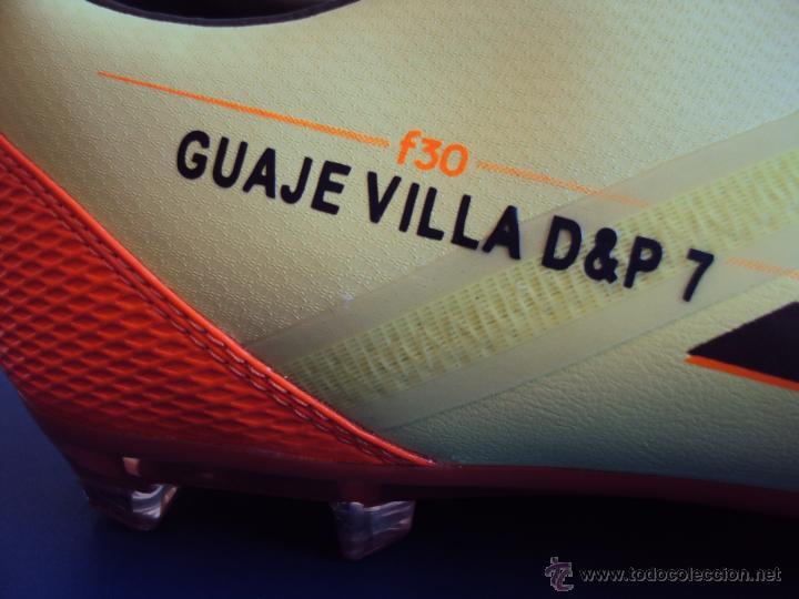 Coleccionismo deportivo: (F-010)BOTAS FUTBOL ORIGINALES,FIRMADAS,MAXIMO GOLEADOR SELECCION ESPAÑOLA,DAVID VILLA,MATCH UN WORN - Foto 2 - 47054597