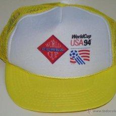 Coleccionismo deportivo: GORRA DEL MUNDIAL DE FÚTBOL USA 94 ESTADOS UNIDOS 1994. WORLD CORSA CUP. Lote 47272985