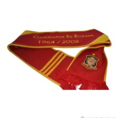 Coleccionismo deportivo: BUFANDA SCARF SCIARPA FUTBOL ESPAÑA CAMPEON DE EUROPA ADIDAS NUEVA NEW! FOOTBALL. Lote 238293780