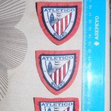 Coleccionismo deportivo: LOTE DE TRES PARCHES DE TELA DEL ATLETICO CLUB DE BILBAO. Lote 89879624