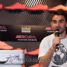 Coleccionismo deportivo: (F-1258)BOTAS DE FUTBOL ORIGINALES DE ADRIAN,ETAPA AT.MADRID,NIKE MERCURIAL,MATCH WORN. Lote 49925532